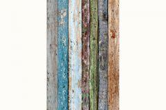 94219-1 cikkszámú tapéta.Fa hatású-fa mintás,fotórealisztikus,konyha-fürdőszobai,különleges motívumos,barna,kék,szürke,türkiz,zöld, panel, fotótapéta