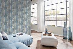 35867-3 cikkszámú tapéta.Fa hatású-fa mintás,különleges felületű,retro,barna,bézs-drapp,kék,súrolható,illesztés mentes,vlies tapéta