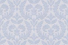 35890-2 cikkszámú tapéta.Barokk-klasszikus,különleges felületű,különleges motívumos,kék,lemosható,vlies tapéta