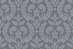 35890-3 cikkszámú tapéta.Barokk-klasszikus,különleges felületű,különleges motívumos,ezüst,szürke,lemosható,vlies tapéta