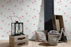 35911-1 cikkszámú tapéta.Különleges felületű,rajzolt,virágmintás,fehér,pink-rózsaszín,szürke,súrolható,vlies tapéta