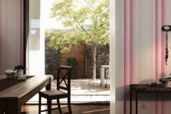 36009-1 cikkszámú tapéta.Csíkos,különleges felületű,fehér,pink-rózsaszín,súrolható,illesztés mentes,vlies tapéta