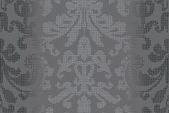 31995-1 cikkszámú tapéta.Barokk-klasszikus,pöttyös,ezüst,szürke,lemosható,vlies tapéta