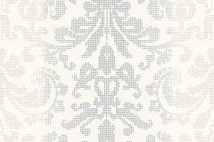 31995-3 cikkszámú tapéta.Barokk-klasszikus,pöttyös,fehér,szürke,lemosható,vlies tapéta