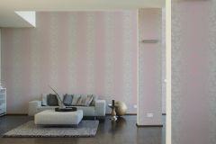 31995-5 cikkszámú tapéta.Barokk-klasszikus,pöttyös,pink-rózsaszín,szürke,lemosható,vlies tapéta