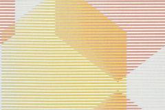 31997-3 cikkszámú tapéta.3d hatású,absztrakt,csíkos,geometriai mintás,fehér,pink-rózsaszín,sárga,szürke,lemosható,vlies tapéta