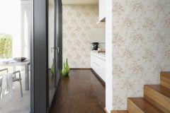 30420-2 cikkszámú tapéta.Barokk-klasszikus,virágmintás,barna,bézs-drapp,pink-rózsaszín,zöld,súrolható,vlies tapéta
