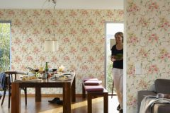 30420-3 cikkszámú tapéta.Barokk-klasszikus,virágmintás,arany,barna,bézs-drapp,pink-rózsaszín,sárga,zöld,súrolható,vlies tapéta