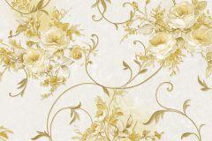 30420-6 cikkszámú tapéta.Barokk-klasszikus,virágmintás,arany,bézs-drapp,súrolható,vlies tapéta