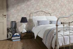 33604-2 cikkszámú tapéta.Textil hatású,virágmintás,narancs-terrakotta,szürke,zöld,súrolható,vlies tapéta