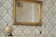 33605-1 cikkszámú tapéta.Barokk-klasszikus,textil hatású,fehér,szürke,súrolható,vlies tapéta