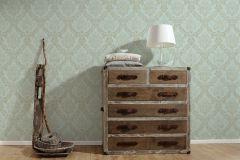 33605-2 cikkszámú tapéta.Barokk-klasszikus,arany,türkiz,súrolható,vlies tapéta