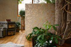 32880-5 cikkszámú tapéta.Különleges felületű,metál-fényes,természeti mintás,textil hatású,arany,barna,súrolható,vlies tapéta