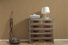 32883-3 cikkszámú tapéta.Csíkos,egyszínű,különleges felületű,textil hatású,arany,barna,súrolható,illesztés mentes,vlies tapéta