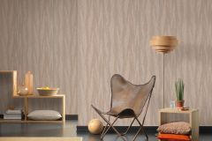 32999-2 cikkszámú tapéta.Absztrakt,csíkos,különleges felületű,metál-fényes,textil hatású,barna,ezüst,súrolható,vlies tapéta