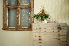 32999-4 cikkszámú tapéta.Absztrakt,csíkos,különleges felületű,metál-fényes,textil hatású,arany,zöld,súrolható,vlies tapéta