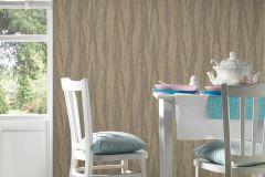 32999-7 cikkszámú tapéta.Absztrakt,csíkos,különleges felületű,metál-fényes,textil hatású,arany,barna,súrolható,vlies tapéta