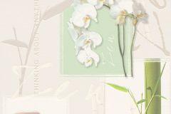 8771-16 cikkszámú tapéta.Feliratos-számos,virágmintás,fehér,sárga,szürke,zöld,súrolható,vlies tapéta