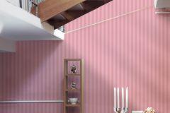 3121-36 cikkszámú tapéta.Csíkos,pink-rózsaszín,súrolható,illesztés mentes,vlies tapéta