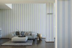 3140-24 cikkszámú tapéta.Csíkos,textil hatású,fehér,kék,súrolható,illesztés mentes,vlies tapéta