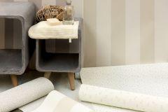 3140-31 cikkszámú tapéta.Csíkos,textil hatású,fehér,szürke,súrolható,illesztés mentes,vlies tapéta