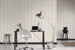 3140-48 cikkszámú tapéta.Csíkos,textil hatású,fehér,sárga,súrolható,illesztés mentes,vlies tapéta