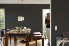 2309-42 cikkszámú tapéta.Egyszínű,fekete,lemosható,illesztés mentes,vlies tapéta