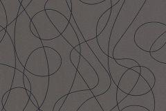 3016-11 cikkszámú tapéta.Absztrakt,különleges motívumos,fekete,szürke,lemosható,vlies tapéta