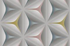 96042-2 cikkszámú tapéta.3d hatású,absztrakt,különleges felületű,különleges motívumos,barna,ezüst,kék,pink-rózsaszín,szürke,zöld,lemosható,vlies tapéta