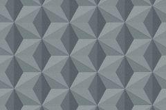96255-2 cikkszámú tapéta.3d hatású,absztrakt,csillámos,geometriai mintás,különleges felületű,különleges motívumos,ezüst,kék,szürke,lemosható,vlies tapéta