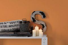 3095-87 cikkszámú tapéta.Egyszínű,gyerek,narancs-terrakotta,lemosható,illesztés mentes,vlies tapéta