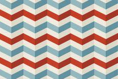 34123-2 cikkszámú tapéta.3d hatású,különleges motívumos,fehér,kék,piros-bordó,súrolható,vlies tapéta