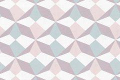 34133-3 cikkszámú tapéta.3d hatású,fehér,pink-rózsaszín,szürke,zöld,gyengén mosható,vlies tapéta