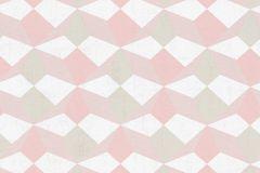 34133-4 cikkszámú tapéta.3d hatású,fehér,pink-rózsaszín,zöld,gyengén mosható,vlies tapéta