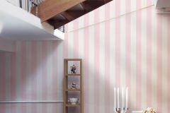 3140-86 cikkszámú tapéta.Csíkos,gyerek,fehér,pink-rózsaszín,súrolható,illesztés mentes,vlies tapéta