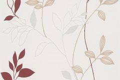 2497-39 cikkszámú tapéta.Retro,természeti mintás,bézs-drapp,fehér,piros-bordó,szürke,lemosható,vlies tapéta