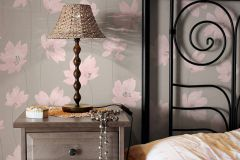 30100-1 cikkszámú tapéta.Dekor tapéta ,gyerek,virágmintás,pink-rózsaszín,szürke,lemosható,illesztés mentes,vlies tapéta