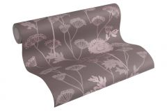3029-39 cikkszámú tapéta.Dekor tapéta ,virágmintás,barna,pink-rózsaszín,lemosható,illesztés mentes,vlies tapéta
