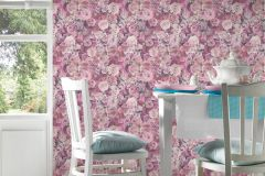 32722-4 cikkszámú tapéta.Fotórealisztikus,gyerek,virágmintás,pink-rózsaszín,súrolható,vlies tapéta