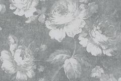 33604-1 cikkszámú tapéta.Retro,virágmintás,szürke,súrolható,vlies tapéta