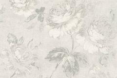 33604-3 cikkszámú tapéta.Retro,virágmintás,fehér,szürke,súrolható,vlies tapéta