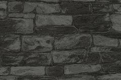 34381-9 cikkszámú tapéta.Kőhatású-kőmintás,fekete,szürke,lemosható,papír tapéta