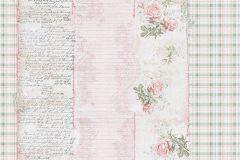 95666-1 cikkszámú tapéta.Feliratos-számos,természeti mintás,virágmintás,fehér,pink-rózsaszín,zöld,gyengén mosható,papír tapéta