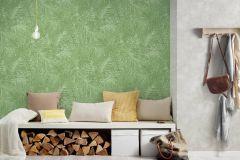 37371-5 cikkszámú tapéta.Természeti mintás,zöld,súrolható,vlies tapéta