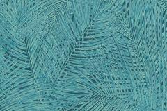 37371-6 cikkszámú tapéta.Természeti mintás,fekete,türkiz,súrolható,vlies tapéta