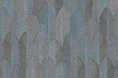 37373-3 cikkszámú tapéta.Geometriai mintás,természeti mintás,barna,türkiz,súrolható,vlies tapéta