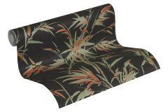 37376-3 cikkszámú tapéta.Természeti mintás,fekete,narancs-terrakotta,zöld,súrolható,vlies tapéta