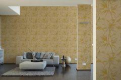 37376-7 cikkszámú tapéta.Természeti mintás,barna,narancs-terrakotta,súrolható,vlies tapéta