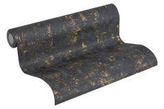 2307-82 cikkszámú tapéta.Absztrakt,arany,fekete,lemosható,illesztés mentes,vlies tapéta