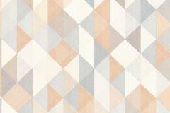 36786-2 cikkszámú tapéta.Absztrakt,geometriai mintás,fehér,kék,narancs-terrakotta,szürke,súrolható,vlies tapéta